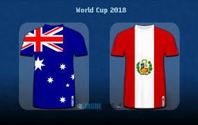 Australia faces Peru in a match from Group C of the FIFA World Cup