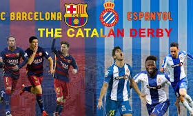 The champion and current leader in La Liga Barcelona hosts Espanyol in a game from the 29th round of the Spanish La Liga