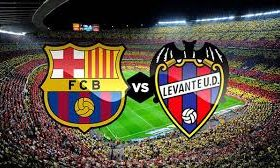 The leader in La Liga Barcelona hosts Levante in a game from the 35th round of the Spanish league